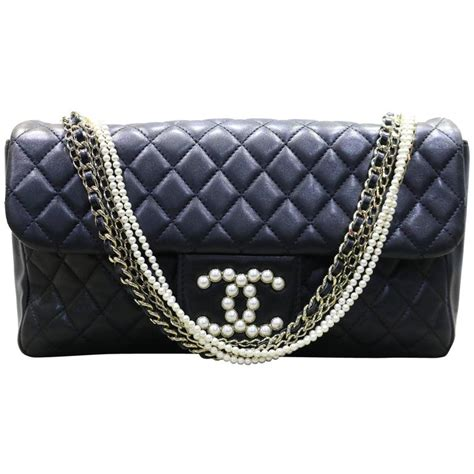 westminster pearl black lambskin purse bag picture 13