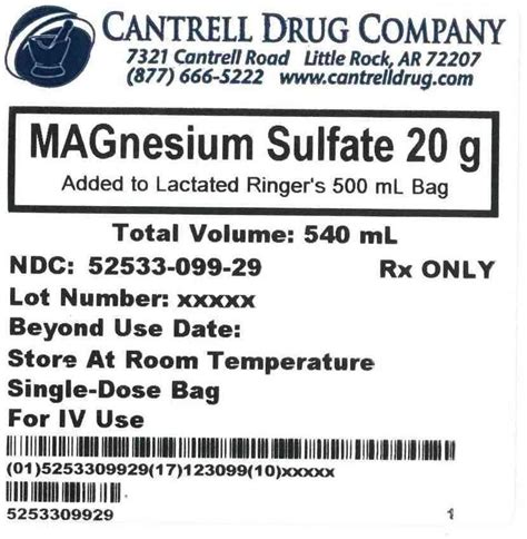 magnesium sulfate in lactated ringer's picture 1