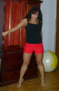 girl with muscular calves. picture 6