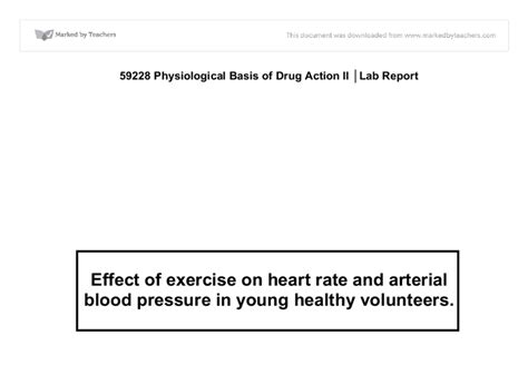 effects of exercise on heart rate and blood picture 9