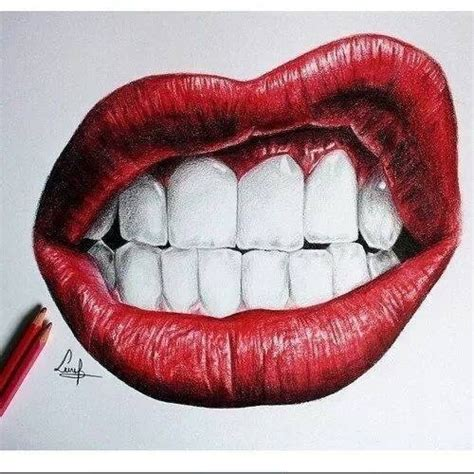 drawing lips picture 2