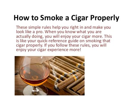 proper way to smoke a cigar picture 1