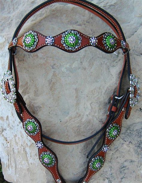 custom made breast collars & headstall with bling picture 1