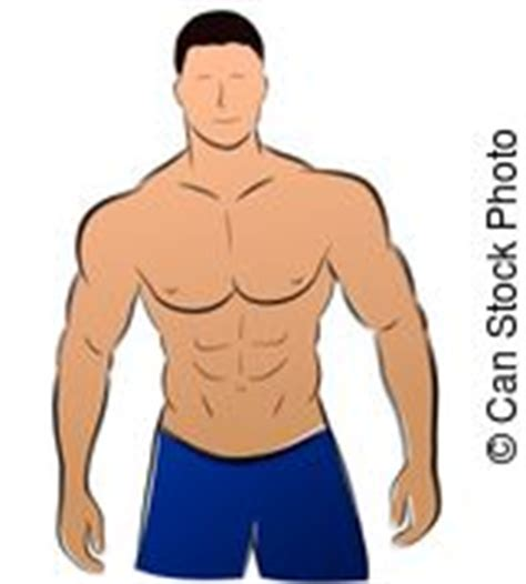 carnival beach muscle man drawings picture 2