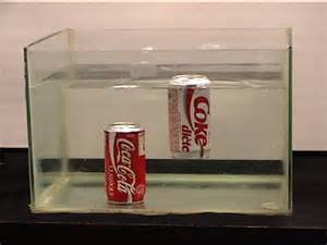 density of diet and regular cokes picture 1