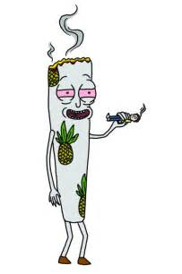 cartoon smoking joint picture 3