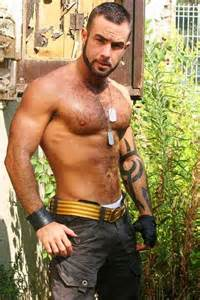 beautiful muscle hairy chest hunks picture 3