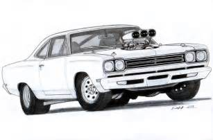 drawing old muscle cars picture 2