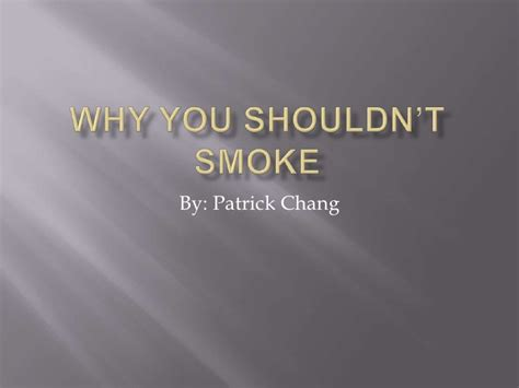 facts abput why you shouldn't smoke picture 3