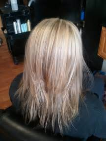 what does brown hair layered with blonde streaks look like picture 1
