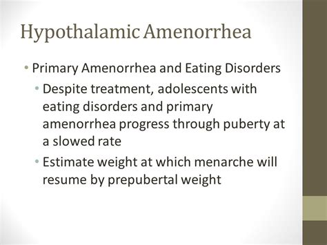 weight loss cured amenorrhea picture 2
