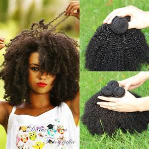 afro humane hair weave picture 7