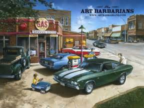 muscle car art picture 9