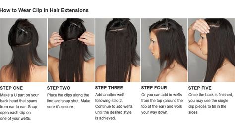 clip in hair extensions appling picture 5