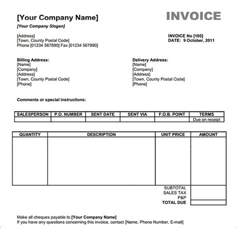 free online business invoice picture 6