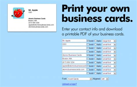 free online business cards picture 1