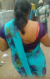 saree side view by aunties in the street picture 13