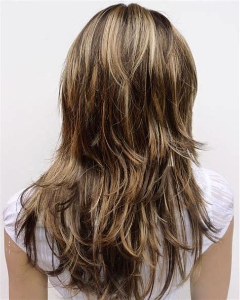 what does brown hair layered with blonde streaks look like picture 8