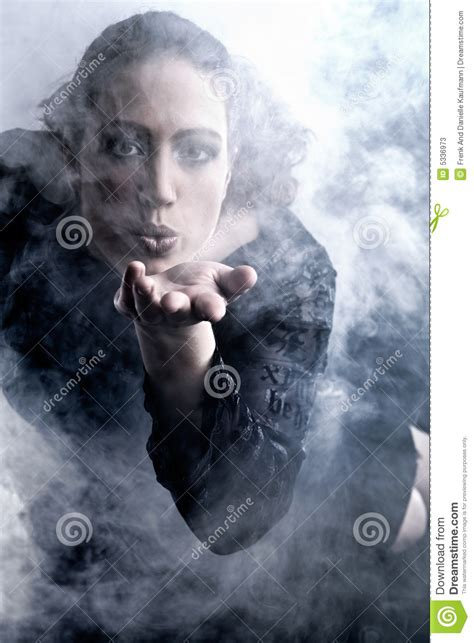 woman blowing smoke picture 11