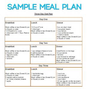 3 hour diet sample meal plans picture 1