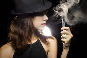 woman in cloud of cigarette smoke picture 13