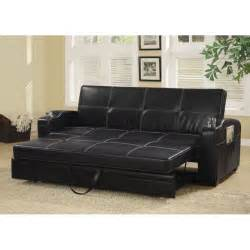 black leather sofa sleepers picture 2