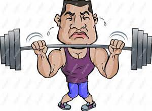 cartoon of muscle beach man picture 5