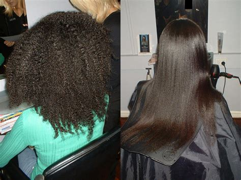 chemical hair straightening picture 9