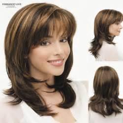Brown shoulder length layerd hair picture 9