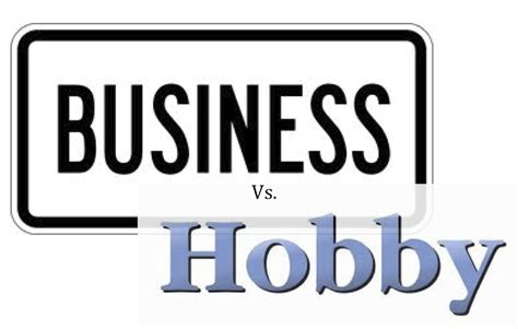 tax information on hobbies versus home business picture 1