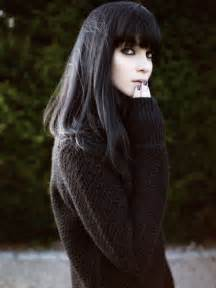 black hair photos with bangs picture 1