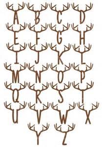 deer antler font picture 2