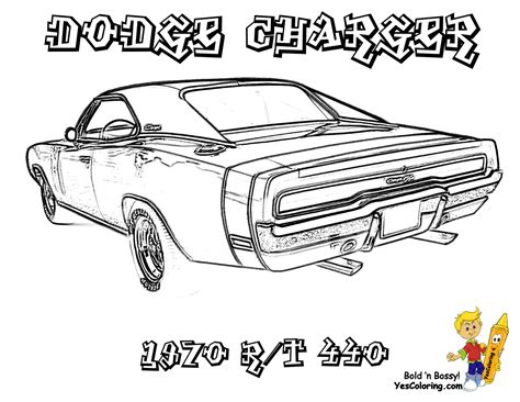 free printable muscle car art picture 17