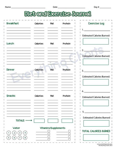 free printable diet journals picture 9