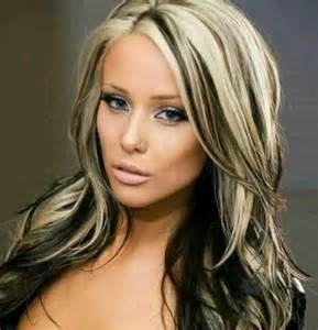 blonde hair and black highlights picture 1