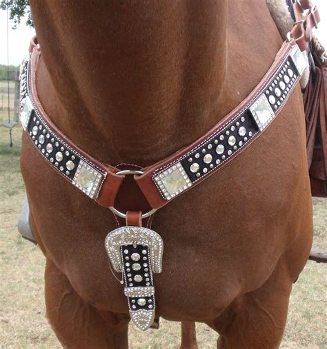 custom made breast collars & headstall with bling picture 9