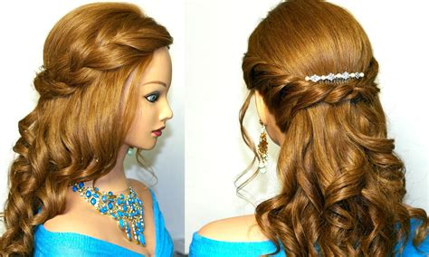 elegant medium length wavy hair down picture 7