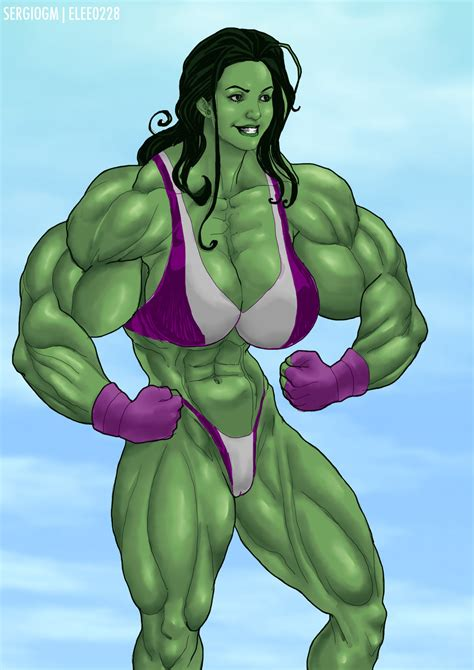 female muscle art picture 10