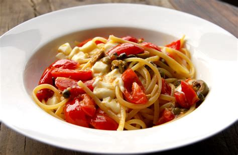 angel hair pasta olives capers picture 2