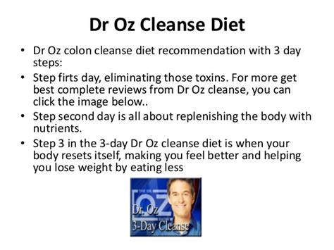 dr oz recommends colon cleanse and herd to picture 11