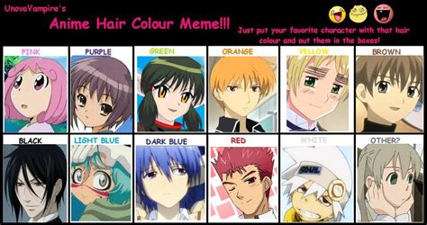 anime hair color picture 21