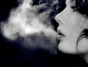 woman blowing smoke picture 6