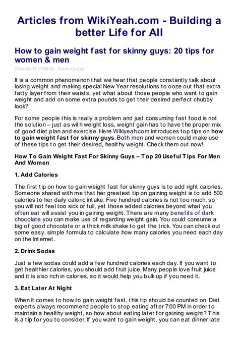 free tips on how to gain weight for women picture 7