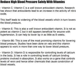 Vitamins or herbs to lower blood pressure picture 6