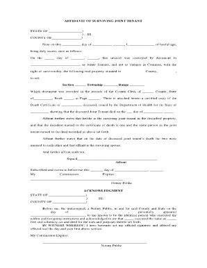 california affidavit of death of joint tenant picture 1