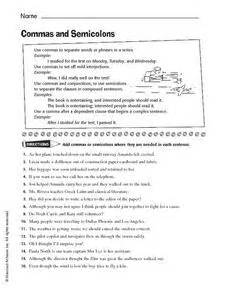 colon grammar worksheets picture 5