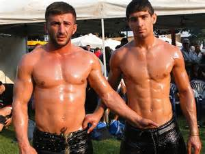 boys oil wrestling picture 1