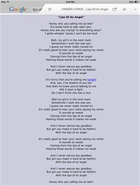 lyrics fro lips of and angel by hinder picture 11