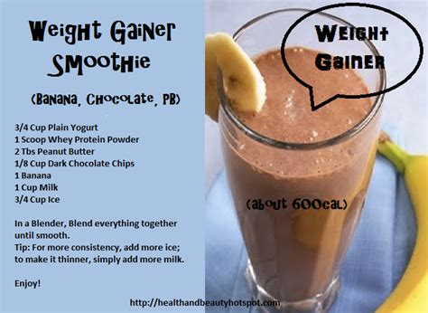 Find weight gain shakes recipes picture 2