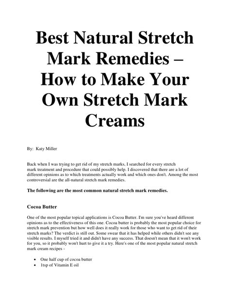 how to make stretch mark cream using nigerian picture 2